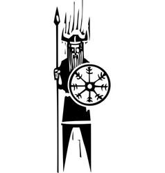 viking with wheel symbol vector image