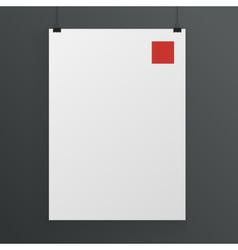 White poster mock up template vector image