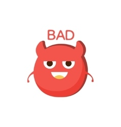 Bad Red Devil Word And Corresponding vector image vector image