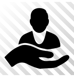 Client Care Hand Icon vector image vector image