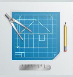 Compass divider engineering planning symbol icon vector