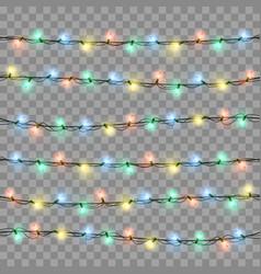 glowing lights for xmas holiday greeting card vector image vector image