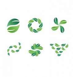 green leaf logo designs vector image