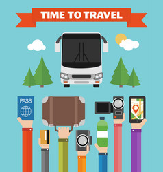 modern concept design time to travel flat vector image vector image