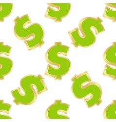 Pattern fo dollar signs vector image