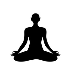 yoga lotos sign template vector image vector image