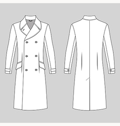 coat outlined template vector image vector image