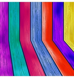 Colorful wooden with copyspace EPS8 vector image vector image