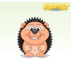 Cute Cartoon Small Hedgehog Funny Animal vector image vector image