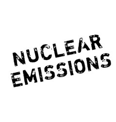 nuclear emissions rubber stamp vector image
