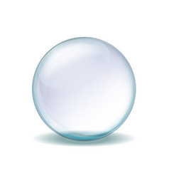 realistic transparent glass sphere vector image vector image