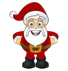 Santa Claus Hands On Hips vector image