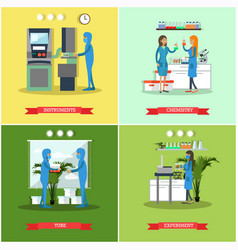 set of scientific research laboratories vector image vector image