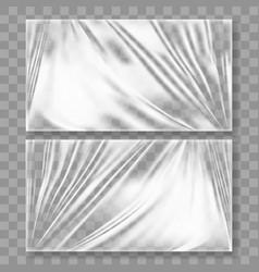 transparent polyethylene plastic warp with shadow vector image vector image