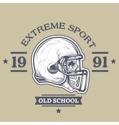 American football poster emblem vector image