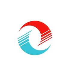 circle round technology abstract logo vector image vector image