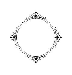classic round elegant frame vector image vector image