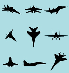 fighter plane vector image