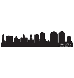 Halifax Canada skyline Detailed silhouette vector image vector image