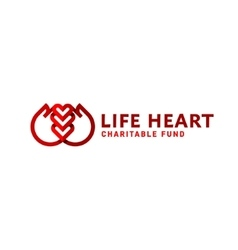 Hands and heart line logo flat style trend vector image vector image