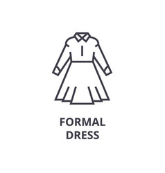 office formal dress line icon outline sign vector image