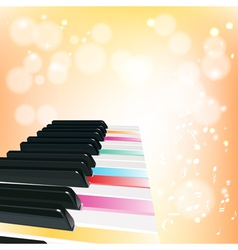 piano musical background with sparkles vector image