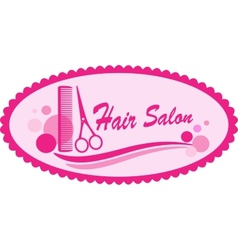 pink hair salon symbol vector image vector image