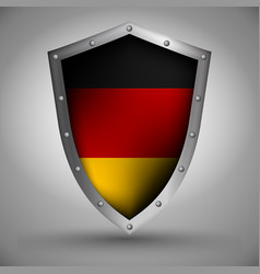 shield with the german flag vector image vector image
