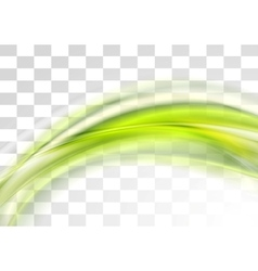 Green smooth blurred transparent waves vector image vector image