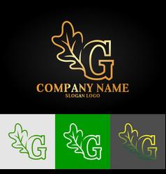 01 oak letter g vector image
