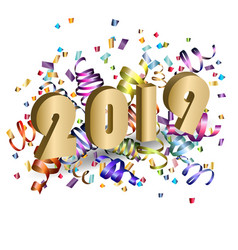 2019 new year realistic design vector image