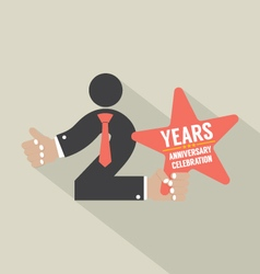2nd Years Anniversary Typography Design vector image