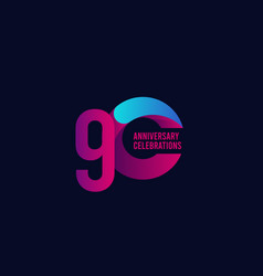 80 years anniversary celebration purple and blue vector