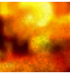 Abstract autumn background of triangles vector image