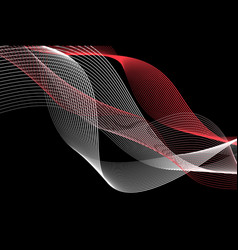 abstract beautiful background with different waves vector image