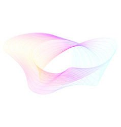 abstract composition with twisted colored lines vector image