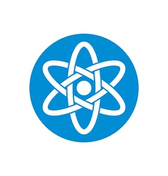 Atom part on white background icon vector image