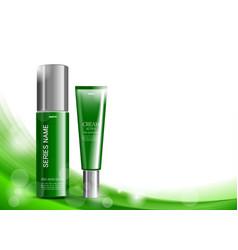 Beauty cosmetic light design template vector