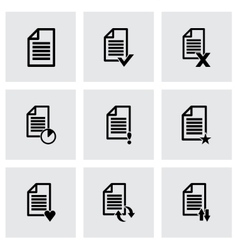 black document icon set vector image