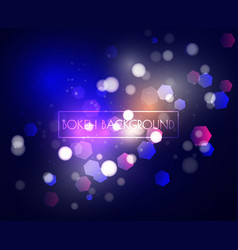 blue bokeh lights and glitter background vector image