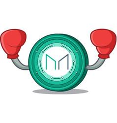 Boxing maker coin character cartoon vector