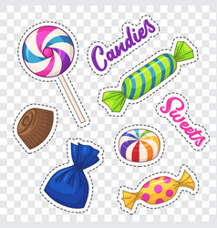 candies vector image