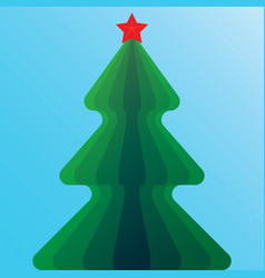Christmas tree with star vector