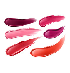 collection strokes lipsticks of vector image