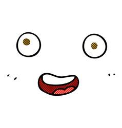 Comic cartoon face vector