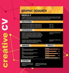 CV template vector