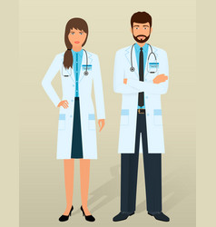 doctors staff medical personal in different vector image
