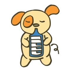 Dog playing music cartoon vector