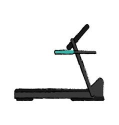 Drawing treadmill machine sport fitness vector