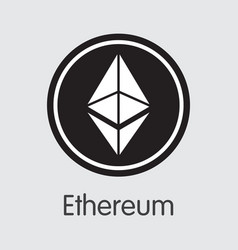 Ethereum cryptocurrency - colored logo vector